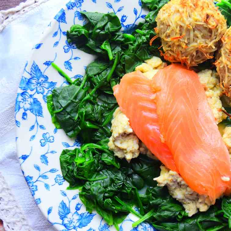 Smoked Salmon - Scrambled Egg With Healthy