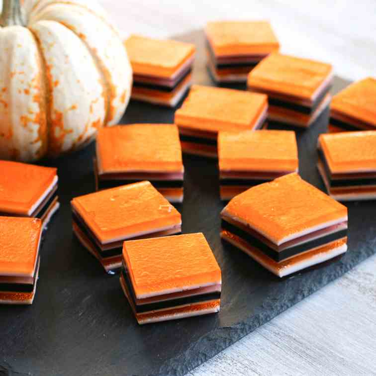 Halloween layered jello treats