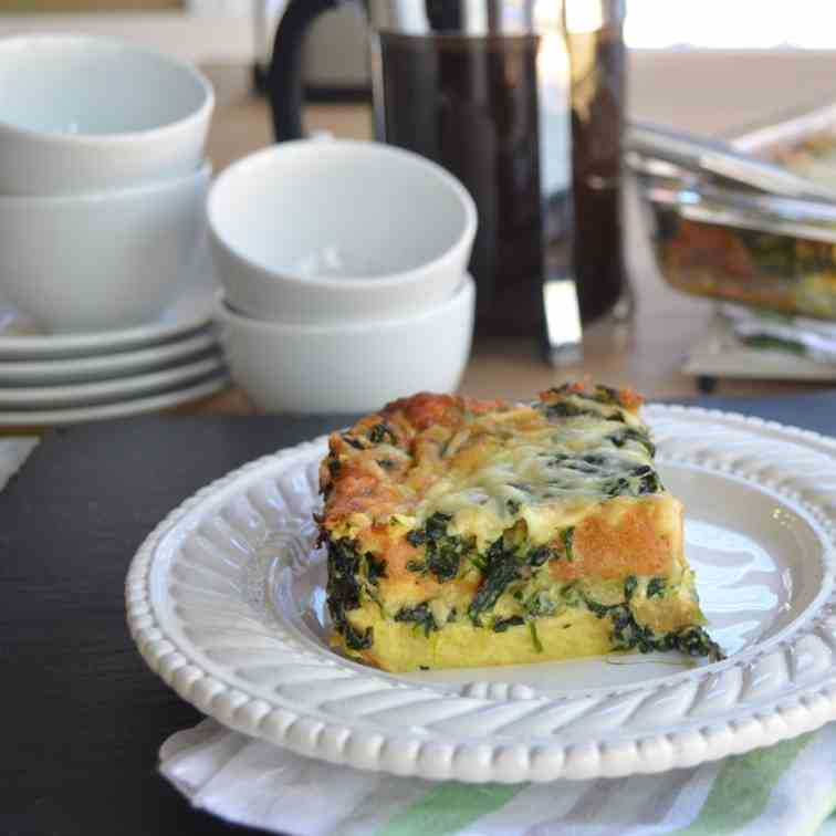 Spinach and Gruyere Cheese Strata