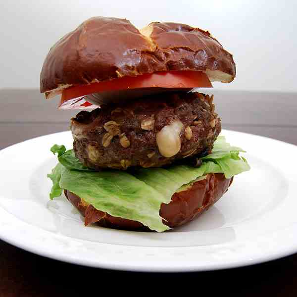 Cheese Stuffed Amaretto Burger