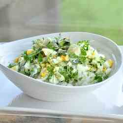 New potato salad with green beans