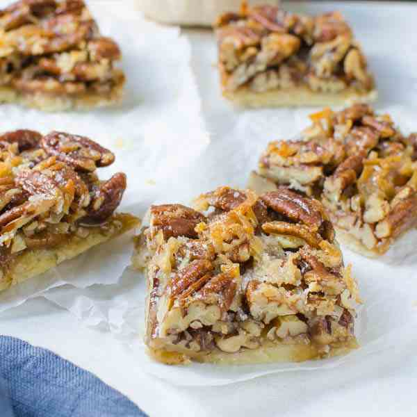 Salted Coconut Pecan Bars