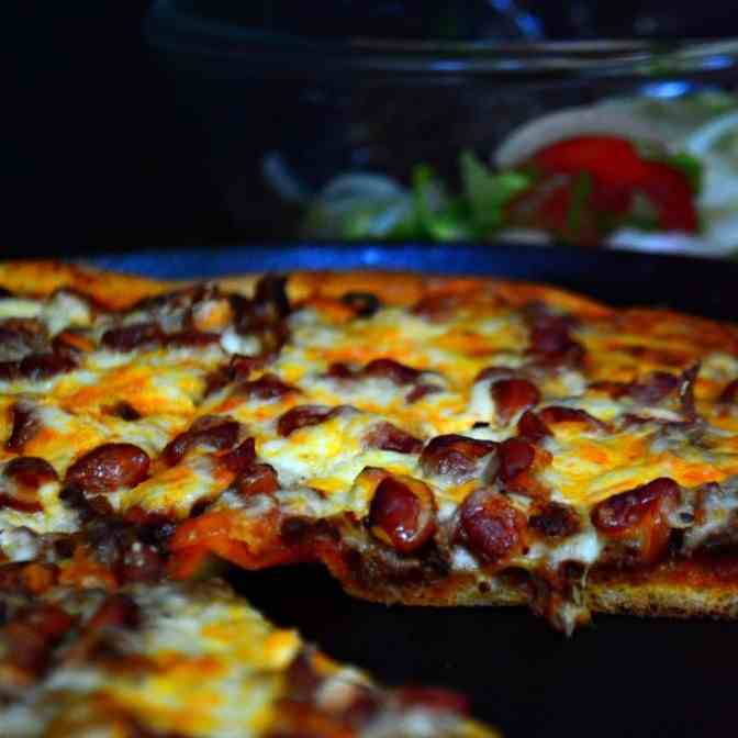 Enchilada Pizza with Chorizo