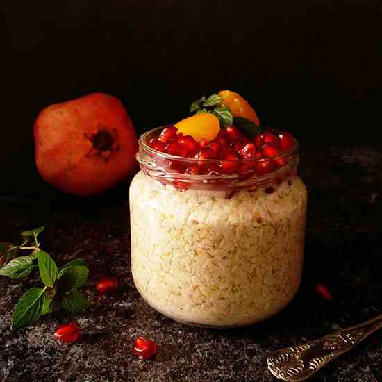 Armenian Overnight Oats with Pomegranate a