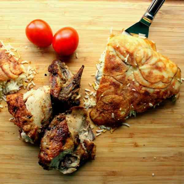 Grilled Chicken with Persian Rice Cake