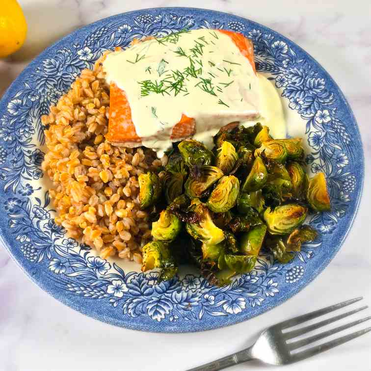 Salmon with Lemon Cream Sauce Recipe