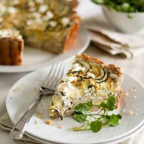 Yellow and Green Zucchini Tart