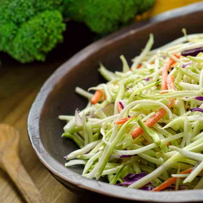 Healthy Coleslaw With The Spiralizer