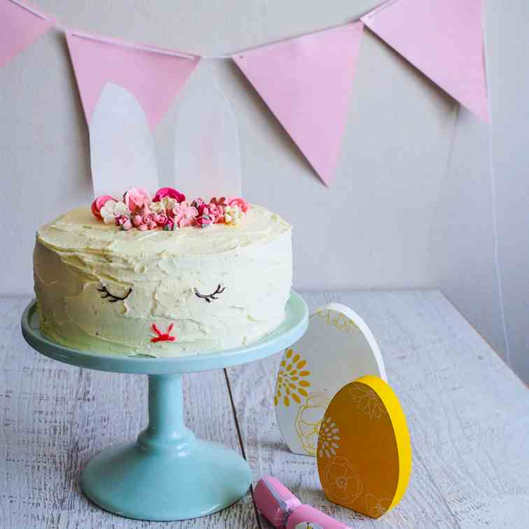 Sleeping Bunny Rabbit Surprise Cake