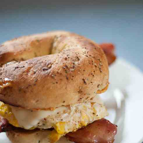 Everything Bagel Egg Sandwich