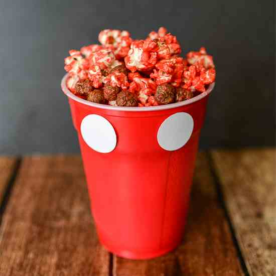 Polka Dot Chocolate Popcorn