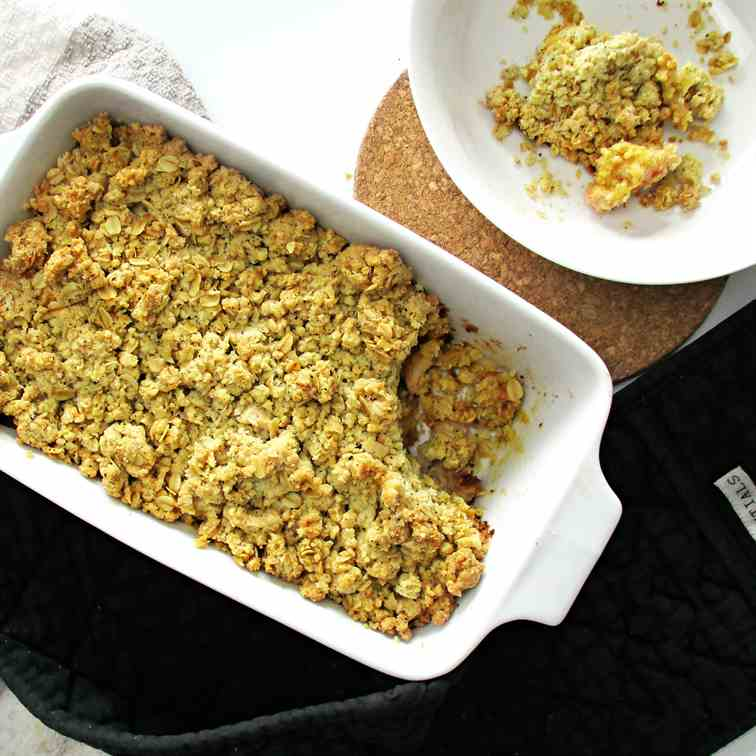 Chai Spiced Custard Apple Crumble