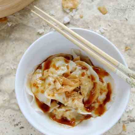 Pork Dumplings with Spicy Sauce
