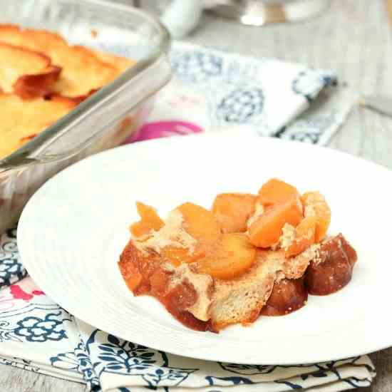 Peach Upside Down French Toast Casserole