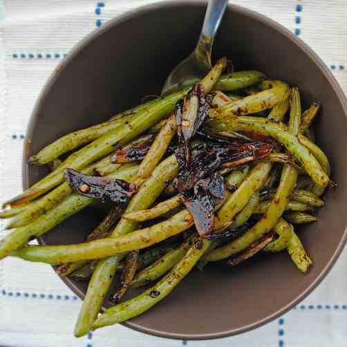 Balsamic Green Beans with Lemon - Garlic