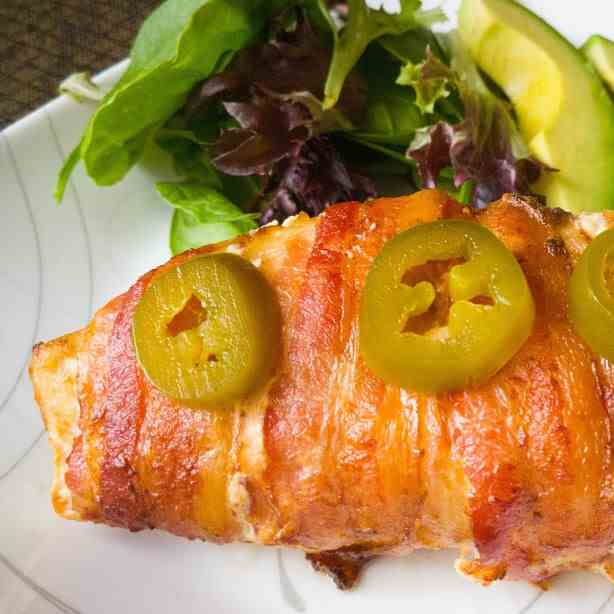 Bacon Wrapped Jalapeno Chicken Breast