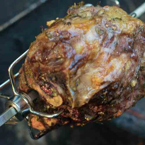 Spit Roasted Leg of Lamb