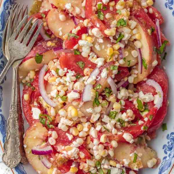 Peach Tomato Corn Salad