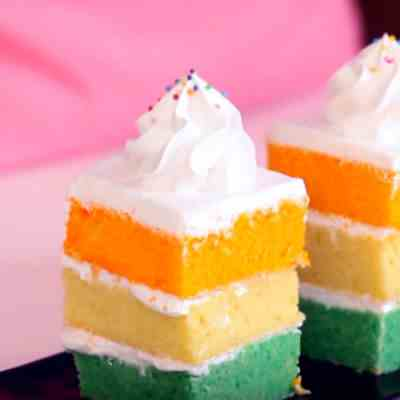 Tri-Coloured Pound Cake