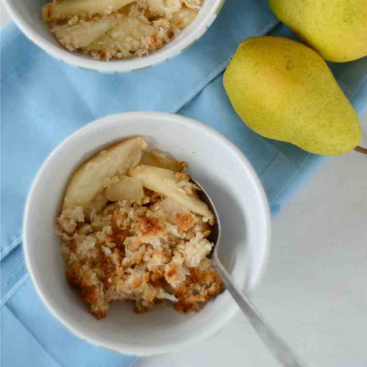 Coconut and Pear Crisp