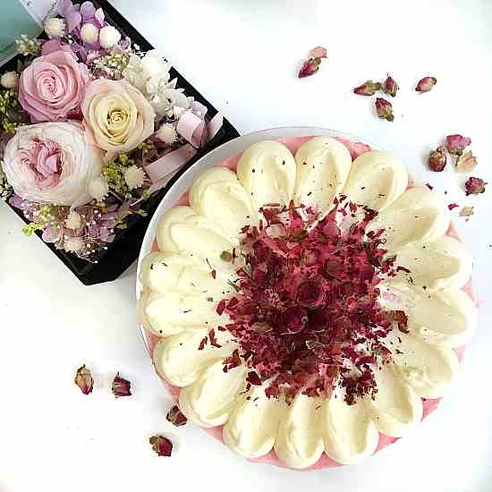 Petal Rose Cheesecake