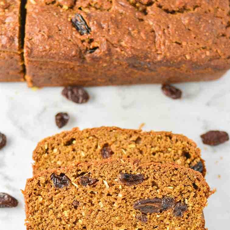 Raisin and Coconut Pumpkin Bread