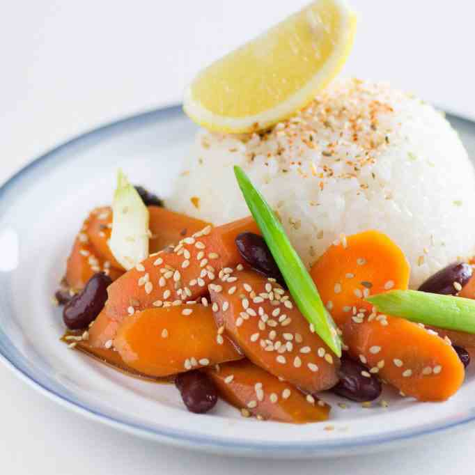 Carrot and kidney beans Poke