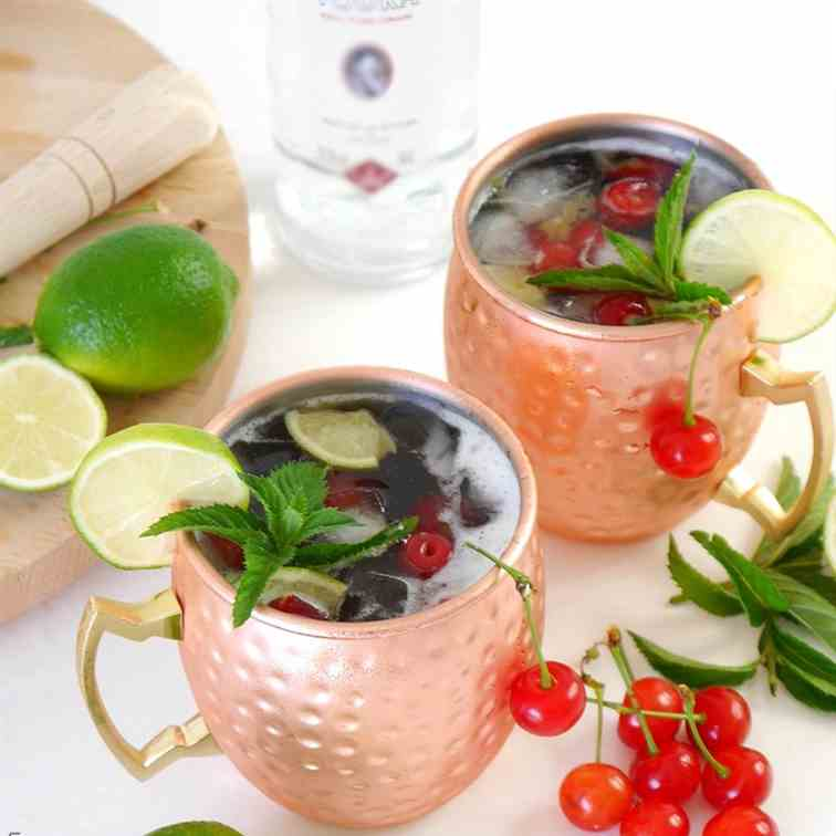 Cherry Moscow Mule Cocktail Recipe
