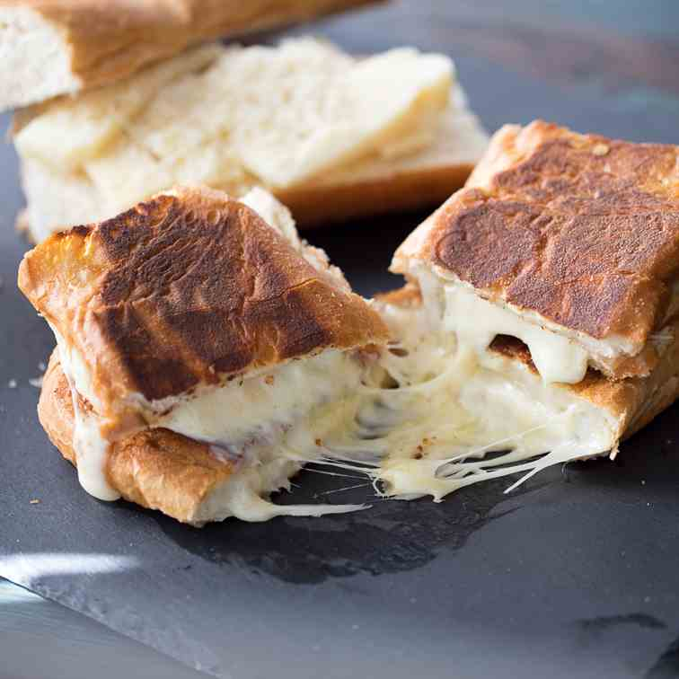 Fondue Cheese Panini Sandwiches