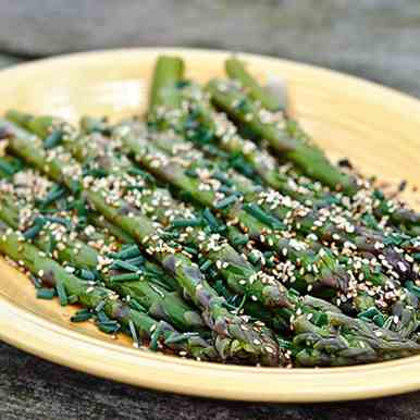 Asparagus with Asian Soy Vinaigrette