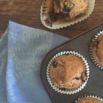 Blueberry and Chia Spelt Muffins