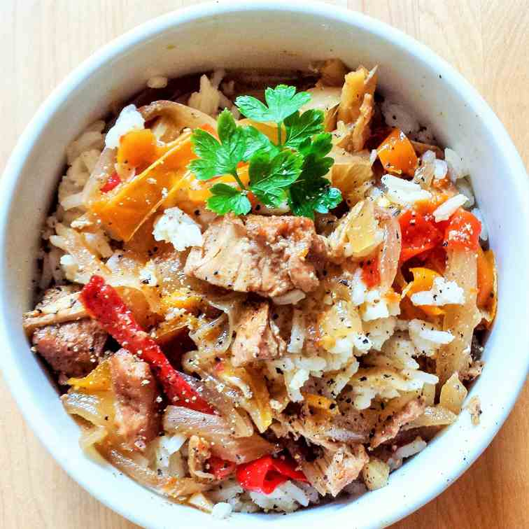 Slow Cooker Sweet Chicken - Peppers