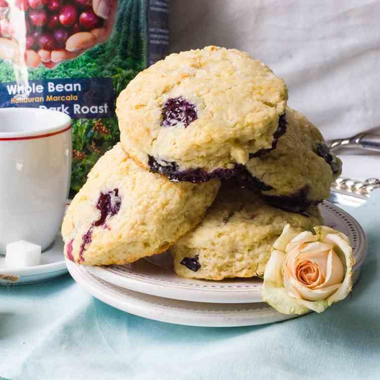 Blueberry Cream Cheese Scones
