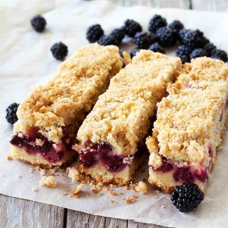 Air Fryer Blackberry Shortbread Bars