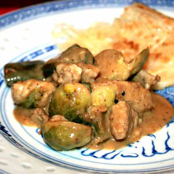 Brussels Sprout - Pork Curry