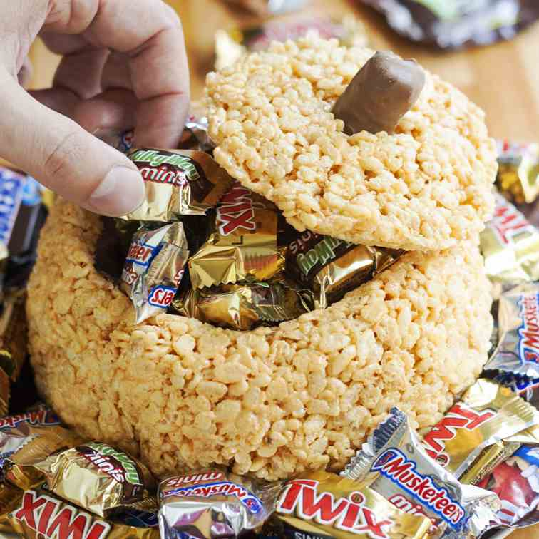 Rice Krispie Treat Pumpkin