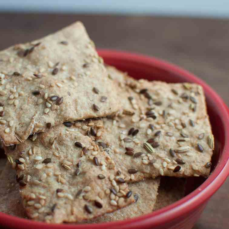 simple seedy crackers