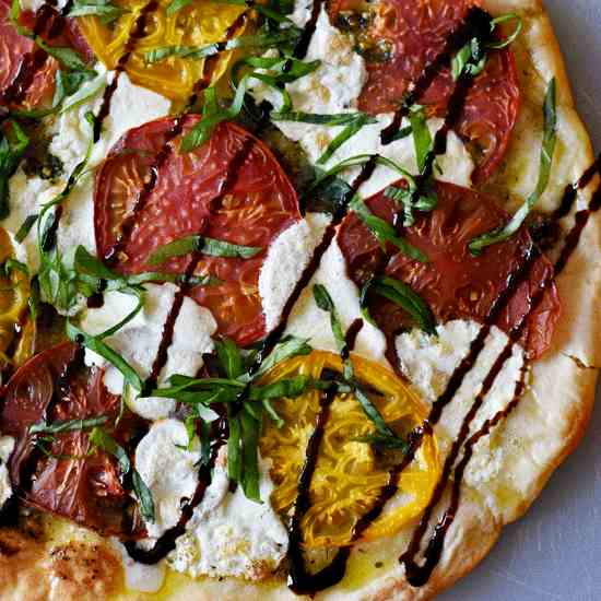 Tri-Color Caprese Pizza