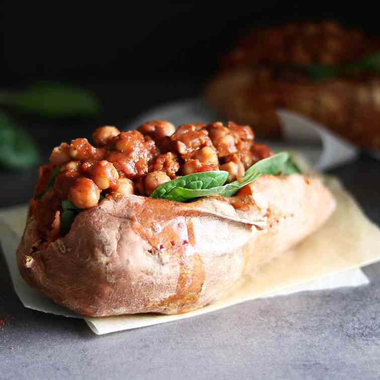 Berbere Spiced Chickpeas - Sweet Potato