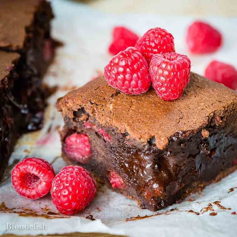 Best Raspberry Chocolate Brownies