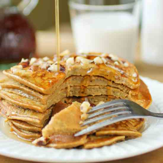 Pumpkin Apple Butter Pancakes