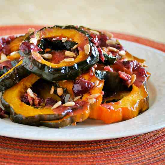 Roasted Acorn Squash with Cranberry