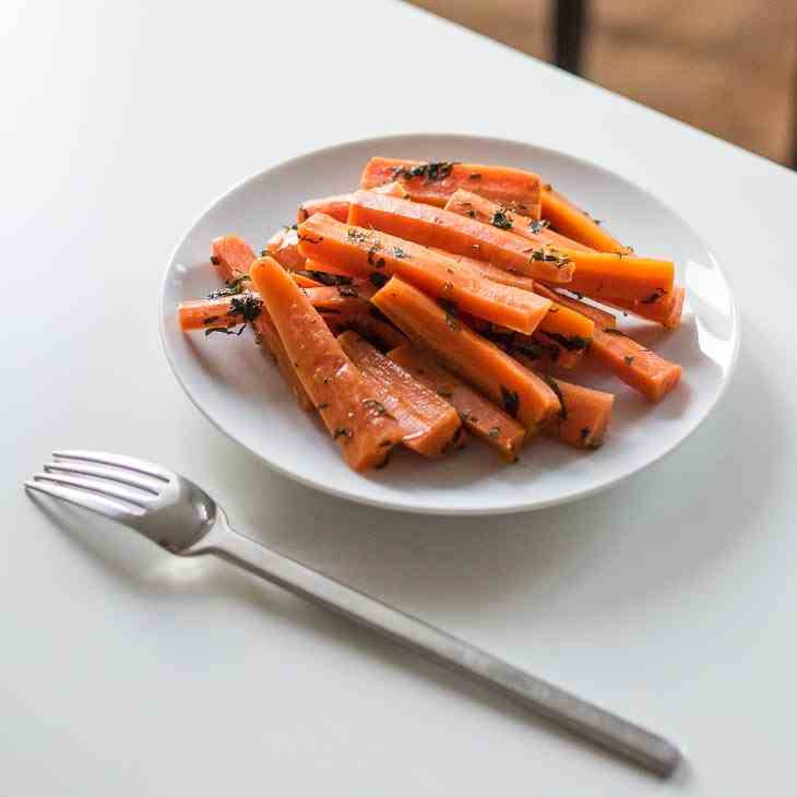 AIP Honey Mint Roasted Carrots Recipe