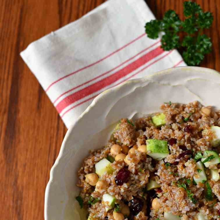 Bulgar Salad with Cranberries, Cucumbers a