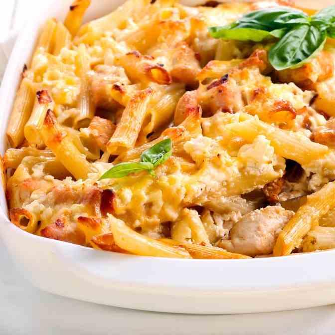 Instant Pot Double Cheese Chicken Rigatoni