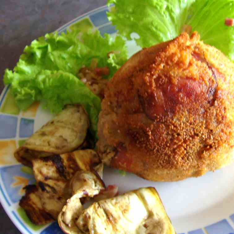 Stuffed fried Mozzarella