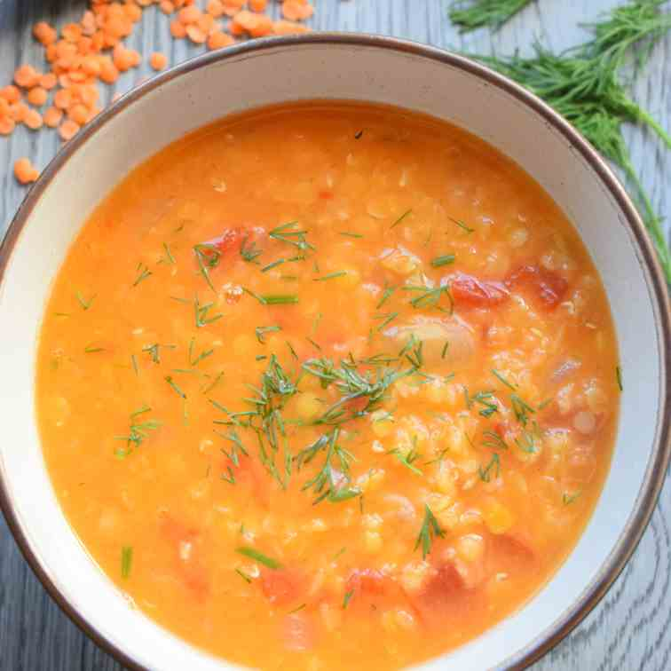 Red Lentil and Dill Soup