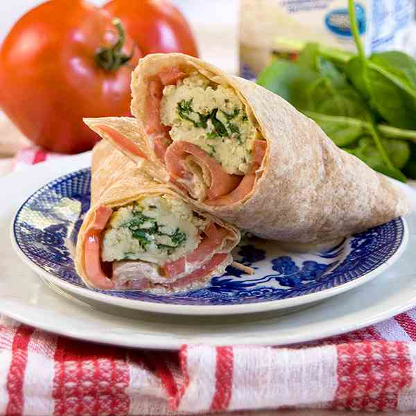 Spinach and Feta Wraps