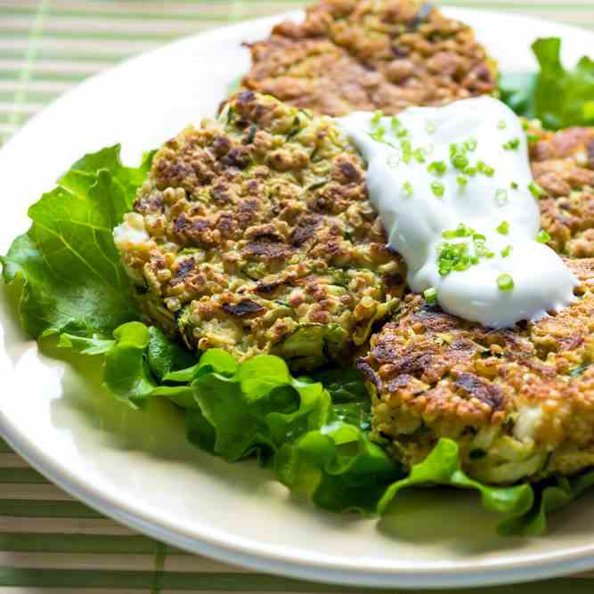 Spicy Courgette - Chickpea Burgers