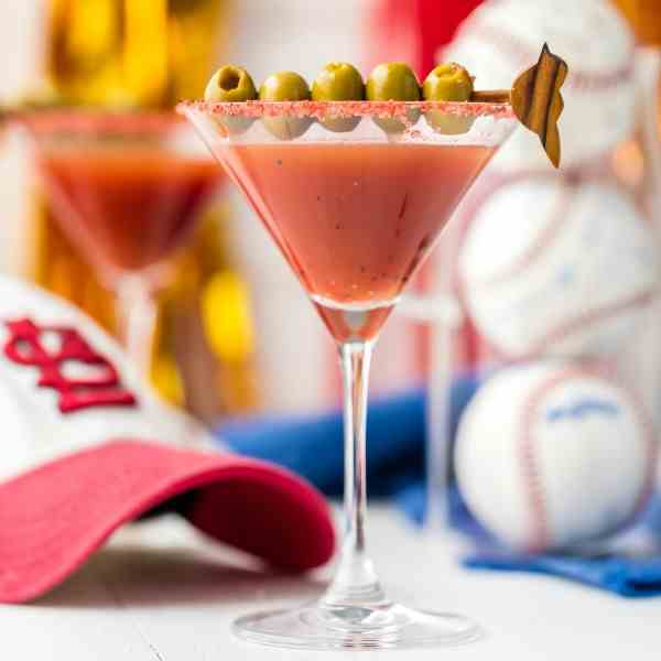 Dirty Redbird Martini